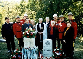 Dedication of Dickens Veteran Marker