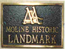 Moline Local Landmark Plaque