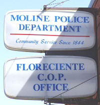 Floreciente District substation sign