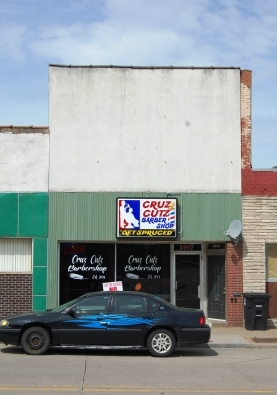 two story storefront with replacement facade