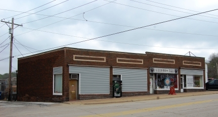 two part commercial building in brick
